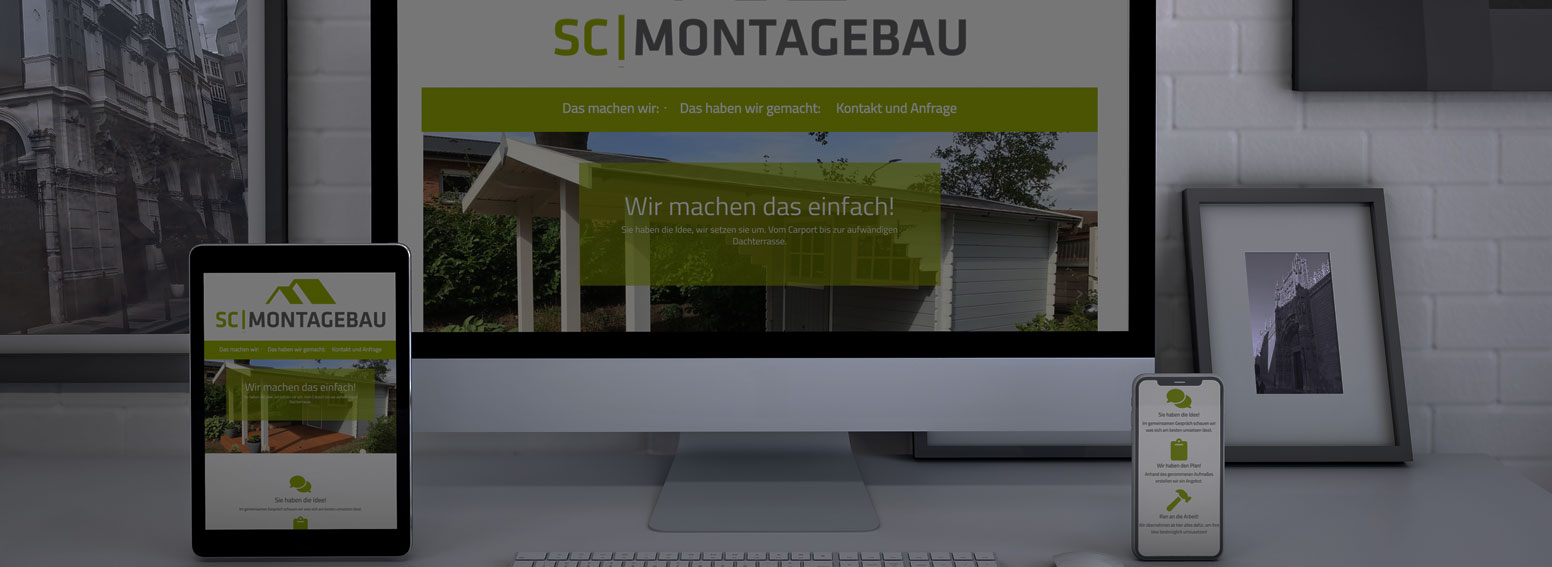 Website - SC Montagebau