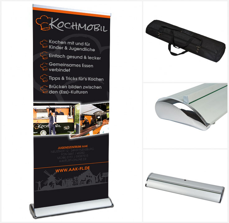 Freshdesign Chrome Roll-Up aus Flensburg